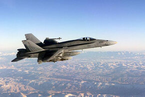 The F/A-18 can reach a speed of Mach 1.7 and fly up to 36,089 feet.