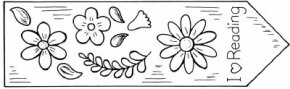 Fabric Flower Bookmark fabric craft