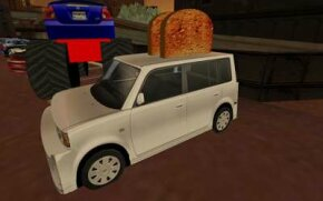 """The Scion xB Toaster, an example of the Scion cars available for purchase in the virtual world of """"Second Life."""""""