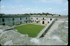 Castillo de San Marcos has served a number of nations in its history, but it was                                  [b]never taken by military force -- control was passed by treaty.