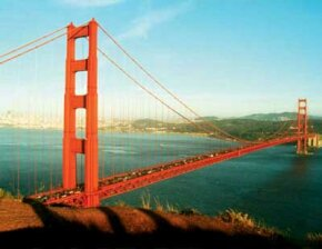 The Golden Gate's vibrant color and 4,200-foot span make it one of the most distinctive bridges on the planet.