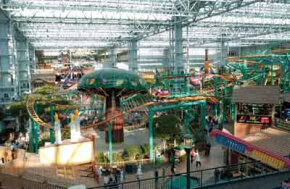The Mall of America is like a mini city covered in glass.