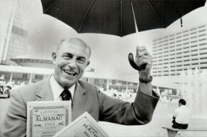 This 1983 photograph captures former Farmers' Almanac editor Ray Geiger. Geiger was the sixth editor of the long-standing guide to weather, gardening and other handy stuff.