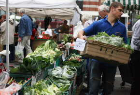 Consumers like farmers' markets because they can purchase fresh produce and chat with the people who grew it.