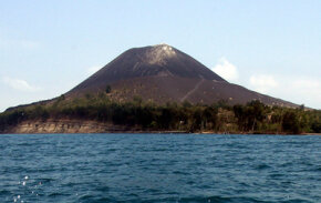 A volcano in Sumatra like this one is thought to have forced humanity into an evolutionary bottleneck after it erupted 70,000 years ago.