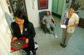 Feng shui consultant Angi Ma Wong helps orient the home of a California couple.