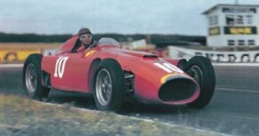 The Ferrari D50 featured Formula 1's first V-8 engine.