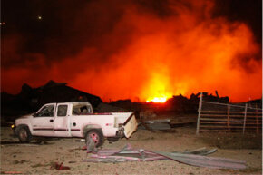 A tremendous explosion occurred at a fertilizer plant in West, Texas, on April 17, 2013.