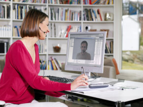New technology such as fiber-to-the-home broadband connections allow for easier use of features such as videoconferencing. See more Internet connection pictures.