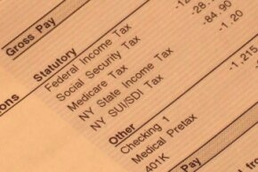 You can see the Social Security tax and the Medicare tax listed on this person's pay stub. Together, those two make up your FICA tax.