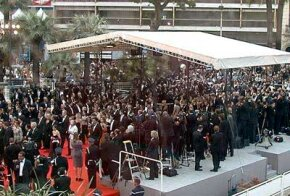 Celebrities walking the red carpet at the Cannes Film Festival. See more movie making pictures.