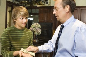 Giving your kid an allowance can teach him about handling money, but you need to be consistent with it.