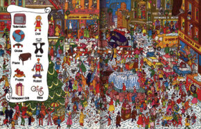 Find the shoppers' precious presents in this Christmas game.