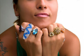 Costume jewelry is affordable and trendy. But don't wear too many pieces at once!