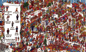 Everyone has waited until the last minute to do their shopping. Can you find the lost children?