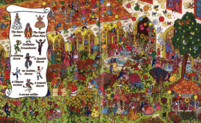 Can you find the Nutcracker characters in this gorgeous garden?
