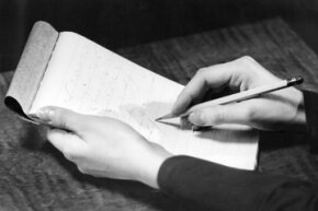 The first distance-learning classes taught students shorthand and note-taking.
