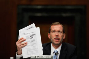 U.S. Congressional Budget Office director Doug Elmendorf testifies before the Senate Budget Committee while presenting the CBO's policy options for increasing economic growth and employment. Will Congress listen?
