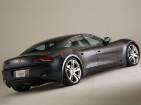 The Fisker Karma can be fully charged in as little as five hours when it's plugged into a 240-volt charging system.