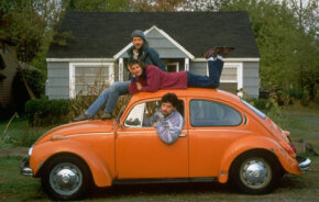 These people are part of a car-sharing co-op. Members share insurance and expenses based on time and mileage.