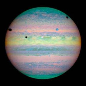 A shot of Jupiter taken by the Hubble telescope