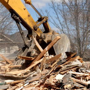 Destroying the house is easy. Getting rid of the debris is more of a challenge, however.