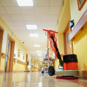 You're probably used to seeing floor buffers in public settings, but they can help put a shine on all kinds of floors.