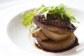 Savory, rich dishes, like this foie gras sautéed and served atop dashi-braised daikon radish, take advantage of the taste aspect known as umami.