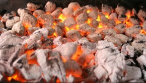 Having charcoal at the right temperature is vital when grilling.