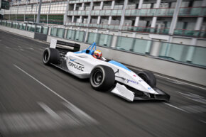 Formula E race cars look similar to the open-wheel, Formula One design we're already familiar with.