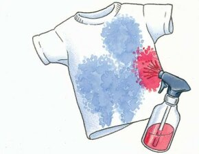 Make this crafty shirt outside -- it can get messy.