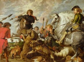 This painting by Peter Paul Rubens captures the chaos at the moment the fox is captured.