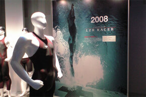 The LZR Racer on display in summer 2008