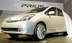 Toyota unveils the 2005 Prius, complete with new hybrid engine unit, in Tokyo. See more pictures of hybrid cars.