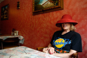 Food critic Gael Greene, pictured here in 2006, is known almost as well for her headwear as for her restaurant reviews.