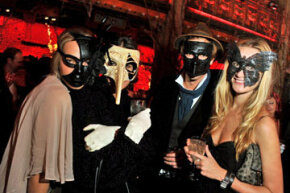 Consider throwing a masquerade ball, like this one held annually by UNICEF. Since the guests focus so much on their costumes, you don't have to spend as much on decor and can budget more on food, drinks and entertainment.