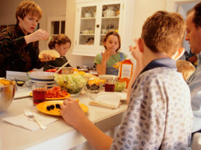Research suggests that people might be more likely to eat at home when gas is expensive.