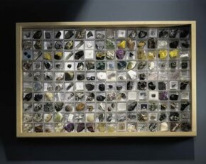 Some gem hunters show off their prized collections in framed displays.