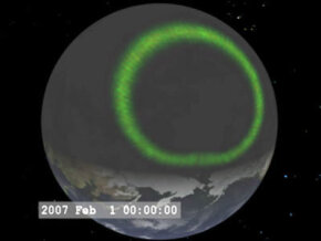 Simulated view of aurora
