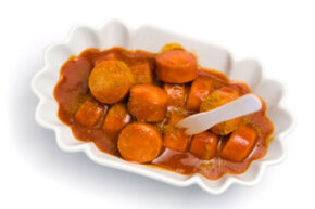 Currywurst, the quintessential (and beloved) German dish.
