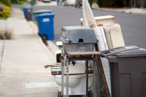 If all else fails, kick that unwanted stuff to the curb -- and watch it disappear!