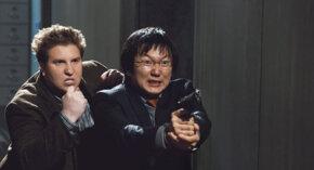 Masi Oka and Nate Torrence as Bruce and Lloyd