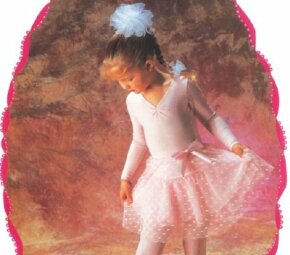 Make the perfect hair tie to match a tutu.
