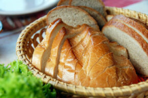Bread with gluten is off the menu for those with celiac disease.