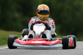 Lewis Hamilton of Great Britain and Mclaren-Mercedes takes to the track after at the Milton Keynes Daytona Kart-track during previews prior to the British Formula One Grand Prix at Silverstone in Northampton, England.