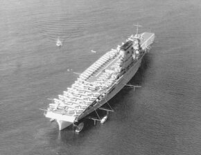 The beautiful USS Lexington was one of the United States' first large aircraft carriers.