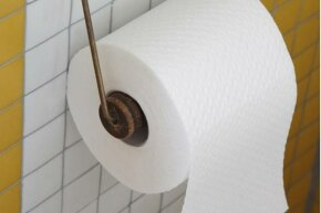 Did you know that the correct way to hang a roll of toilet paper is with the paper away from the wall?