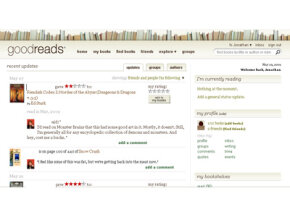 The Goodreads member homepage features a feed that lets you see what your friends have been reading. See more pictures of popular web sites.