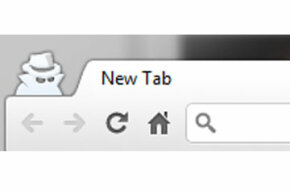 Look for this character lurking next to your browser tabs to confirm you're using an incognito window in Chrome.