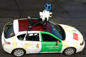 Google Maps, unlike the items on this list, has been a great success. Here, one of Google's camera-laden vehicles captures street view data.